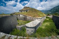 Thurmfort Gorazda fortress wide angle view Stock Photos