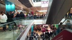 Crowd In Shopping Centre Westfield Stratford Stock Footage