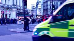 Ambulance Piccadilly Circus - stock footage