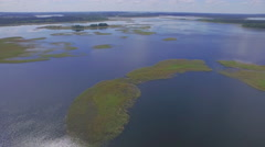 Summer time famous european forest lakes aerial panorama belarus Stock Footage