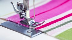 Sewing machine showing process Stock Footage