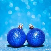 Beautiful Glitter christmas balls - stock photo