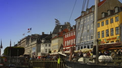 DSC0584 sailing downtown Copenhagen no snd Stock Footage