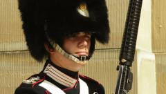 Close up danish royal guard Stock Footage