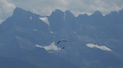 Paraglide in mountains Stock Footage