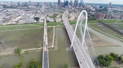 Margaret Hunt Hill Bridge - Aerial Stock Footage