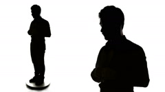 Business Man Silhouette getting ready - stock footage