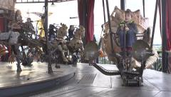 Antique carousel Stock Footage