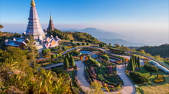 The Great Holy Relics Pagoda Of Chiang Mai, Thailand (tilt up) - stock footage