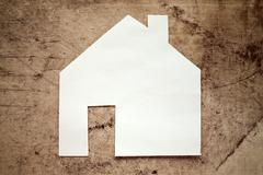 Stock Photo of Model house, construction, house building
