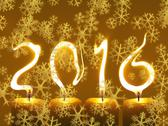 Stock Photo of Happy new year 2016 - snowflakes