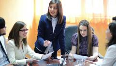 Business people working as a team at the office - stock footage