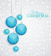 Vector Christmas balls Stock Illustration