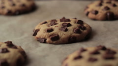 Chocolate Chip American Cookies After Oven - stock footage