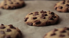 Chocolate Cookies baking in the oven Stock Footage