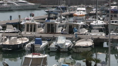 A dock in the port of Chiavari Stock Footage