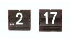 Time Lapse of Vintage Flip Clock running through Time Stock Footage