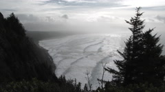 Oregon Coast Ocean View Stock Footage