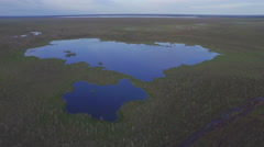 Blue sky summer day european famous lake reflection aerial view belarus Stock Footage