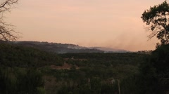 Forest fire in the Hill Country of Texas Stock Footage