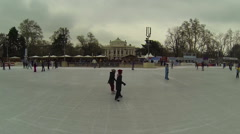 Ice skating in Vienna Stock Footage