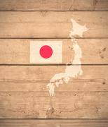 map of Japan - stock illustration