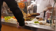 Chef Prepares Takeout in Restaurant Stock Footage