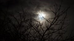 Moon and dark clouds Stock Footage