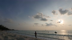 Timelapse of tropical sunset in the caribbean Stock Footage