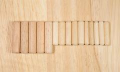 Elements of fastening pieces of furniture. Stock Photos