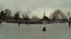 ice skating in Vienna - stock footage