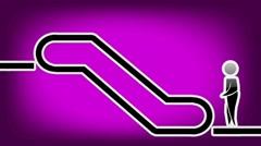 Escalator Symbol - Animation - Purple 01 Stock Footage