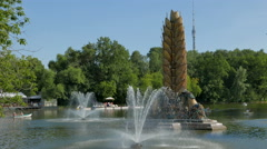 "Park ""Exhibition of National Economy Achievements"" (ENEA), Moscow. - stock footage"