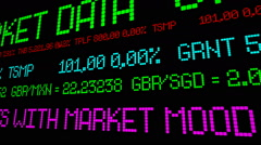 Dollar rises with market mood Stock Footage