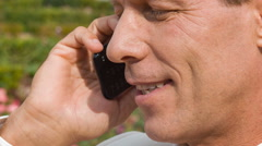 Businessperson talking on the phone - stock footage