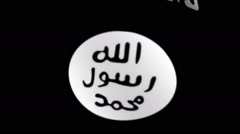 Islamic State flag Stock Footage