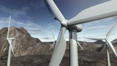 Animated wind turbines. Stock Footage