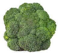 Large inflorescences of fresh broccoli top view Stock Photos