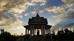 Brahma shrine, time lapse. Stock Footage