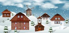Winter landscape Stock Illustration