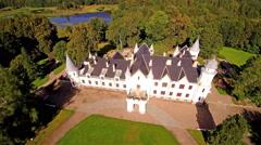 The beautiful big Alatskivi manor in Estonia Stock Footage