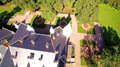 Rooftop of the Alatskivi manor in Estonia Stock Footage