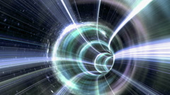 Animated wormhole a tunnel through space. Loop-able Stock Footage