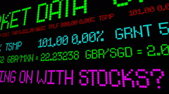 Stock market report  What the heck is going on with stocks - stock footage