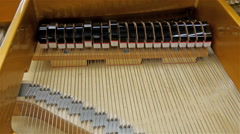 Playing keys of the piano Stock Footage