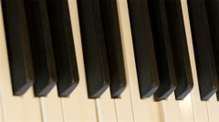 Black and white keys of the piano Stock Footage