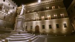 TimeLapse Night Piazza Salimbeni Stock Footage