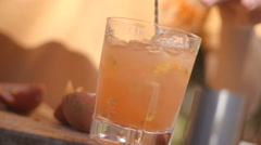 Slow motion of cocktail Stock Footage