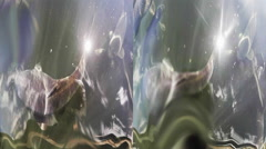 Carp Fish swiming in 3D - stock footage