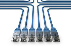 Networking, Network cables, LAN cables - stock illustration